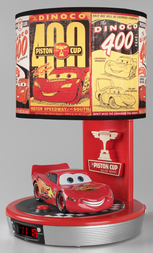 CARS ALARM CLOCK LAMP